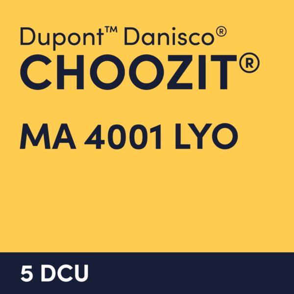 cultures choozit MA 4001 LYO 5 DCU