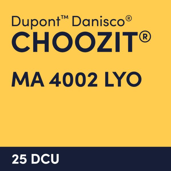 cultures choozit MA 4002 LYO 25 DCU