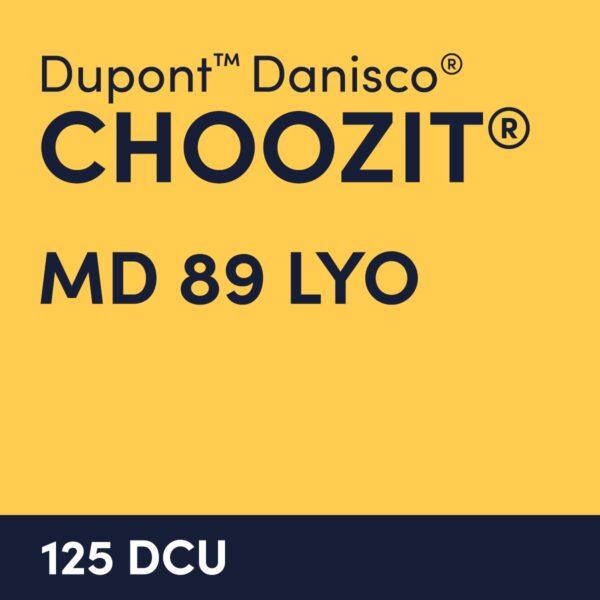 cultures choozit MD 89 LYO 125 DCU