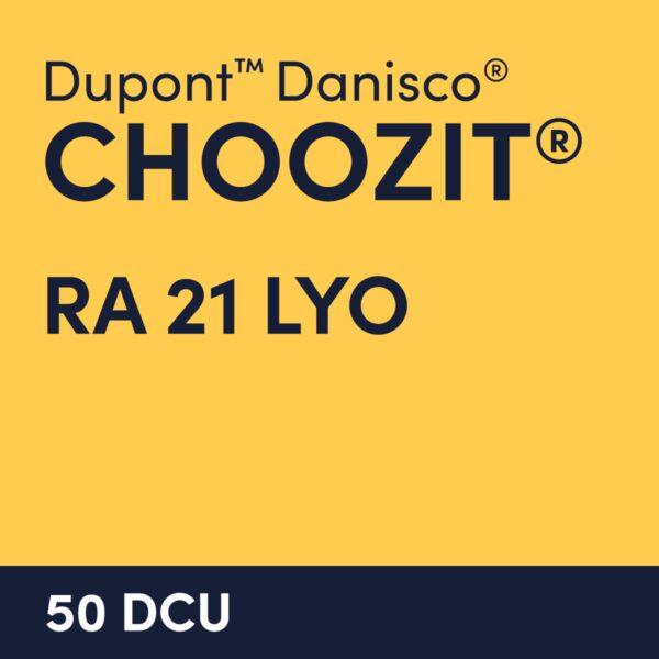 cultures choozit RA 21 LYO 50 DCU