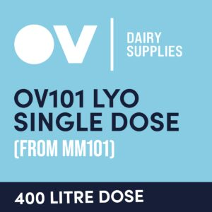 Cheese culture OV101 LYO single dose (from MM101) 400 Litre
