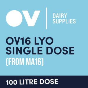 Cheese culture OV16 LYO single dose (from MA16) 100 Litre