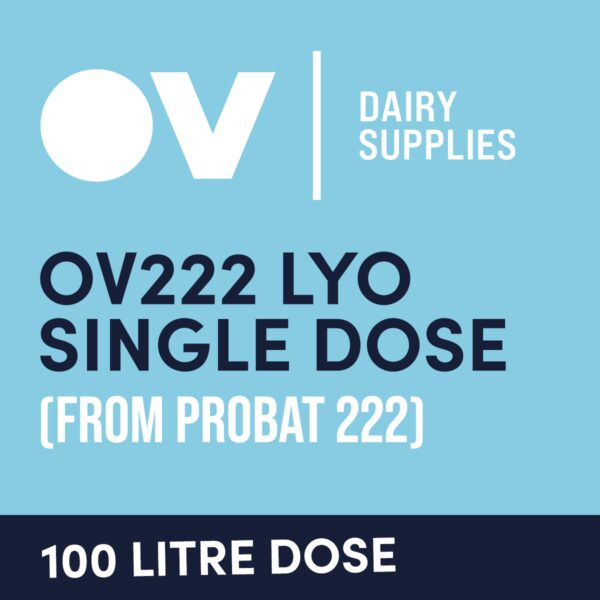 Cheese culture OV222 LYO single dose (from Probat 222) 100 Litre