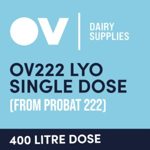 Cheese culture OV222 LYO single dose (from Probat 222) 400 Litre