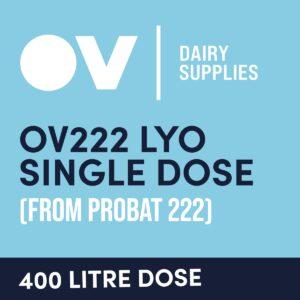 Cheese culture OV222 LYO single dose (from Probat 222) 400 Litre