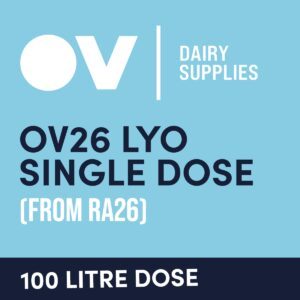 Cheese culture OV26 LYO single dose (from RA16) 100 Litre