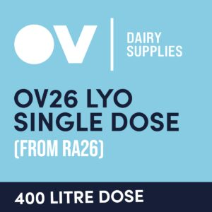 Cheese culture OV26 LYO single dose (from RA16) 400 Litre