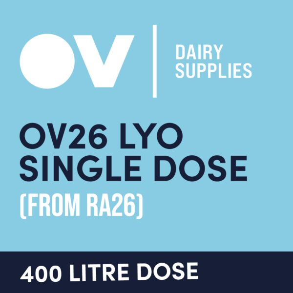 Cheese culture OV26 LYO single dose (from RA16) 400 Litre