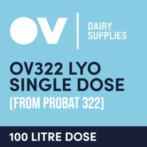 Cheese culture OV322 LYO single dose (from Probat 322) 100 Litre