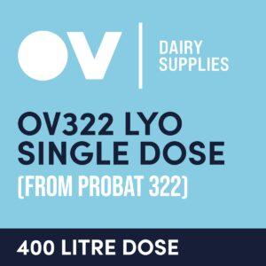 Cheese culture OV322 LYO single dose (from Probat 322) 400 Litre