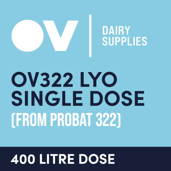 Cheese culture OV322 LYO single dose (from Probat 322) 400 Litre