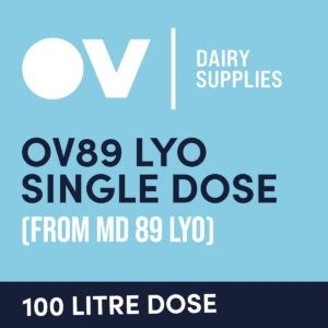 Cheese culture OV89 LYO single dose (from MD89) 100 Litre