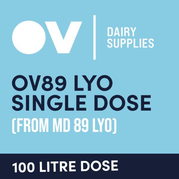 Cheese culture OV89 LYO single dose (from MD89) 100 Litre