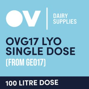 Cheese culture OVG17 LYO single dose (from GEO17) 100 Litre