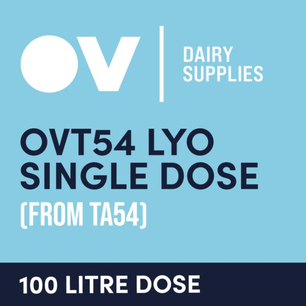 Cheese culture OVT54 LYO single dose (from TA54) 100 Litre