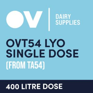 Cheese culture OVT54 LYO single dose (from TA54) 400 Litre