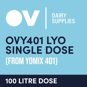 Yoghurt culture OVY401 LYO single dose (from YO MIX 401) 100 Litre