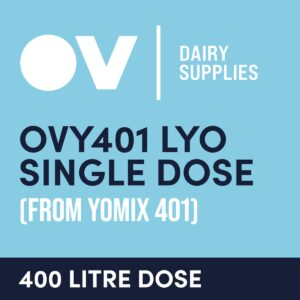 Yoghurt culture OVY401 LYO single dose (from YO MIX 401) 400 Litre