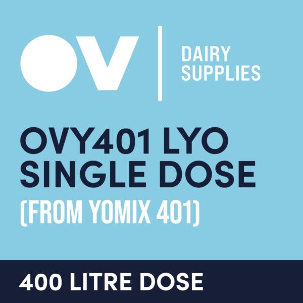 Yoghurt culture OVY401 LYO single dose (from YO MIX 401) 400 Litre